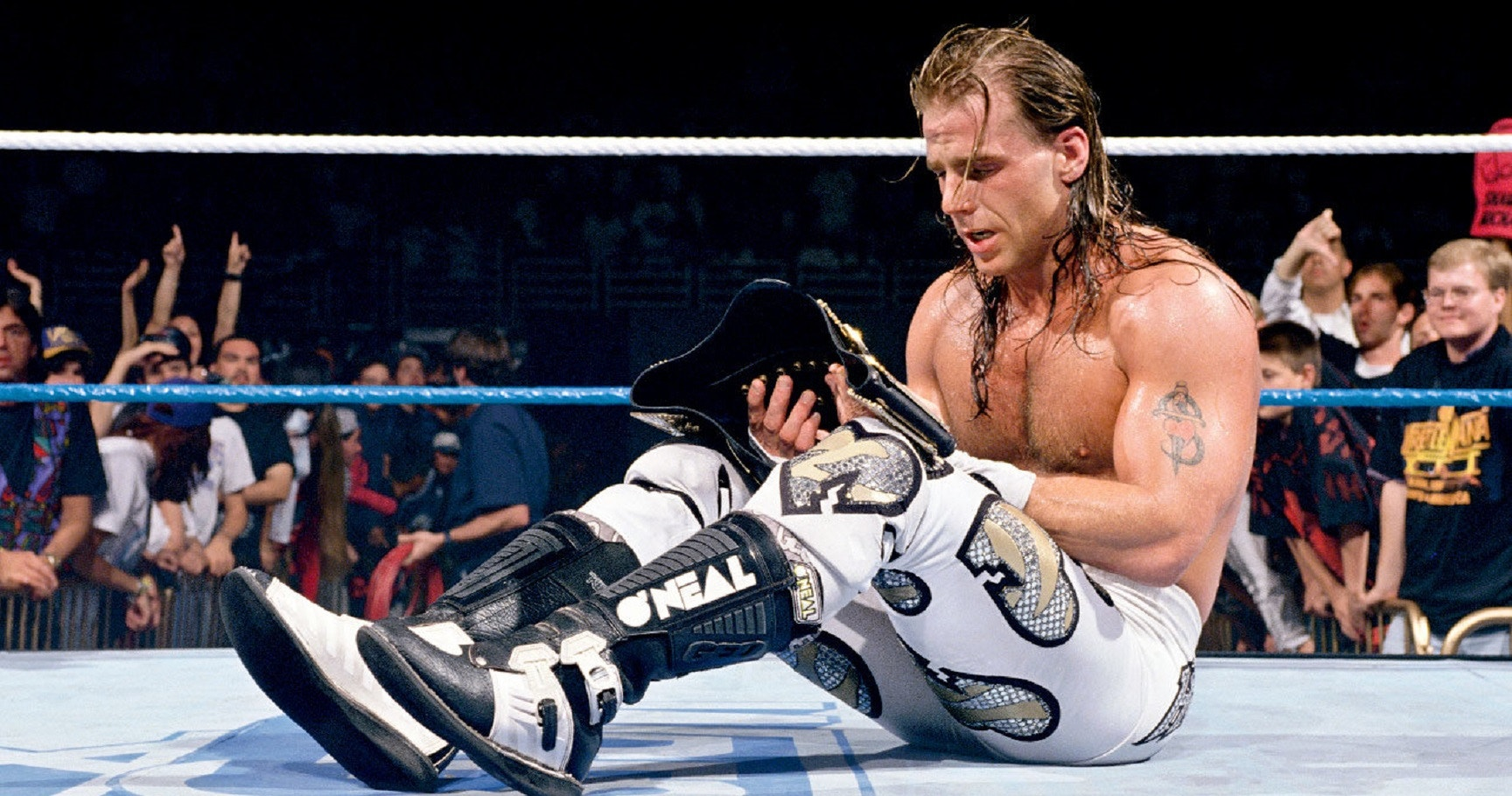 Beyond the athlete hbk shawn michaels back sports page think pro wrestling think hulk hogan the rock andre the giant and stone cold steve austin hbk burst onto the m4hsunfo