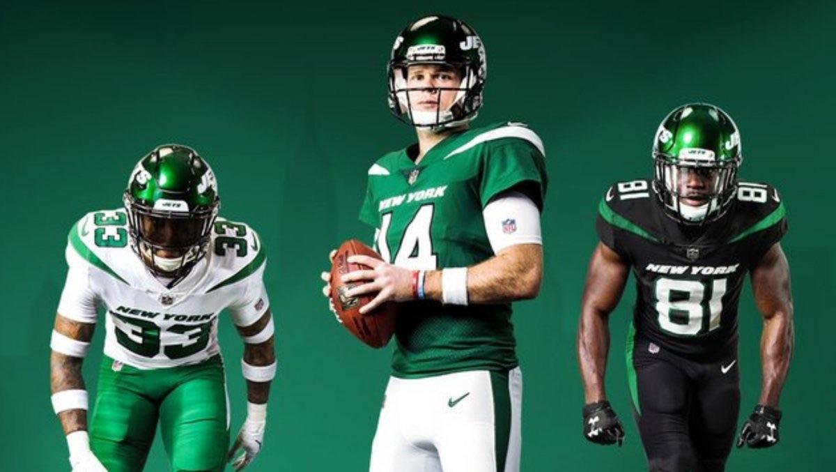 Jets Unveil New Uniforms Back Sports Page