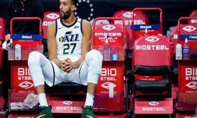 AP photo--Rudy Gobert of the Utah Jazz