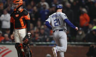 NL West Los Angeles Dodgers San Francisco Giants